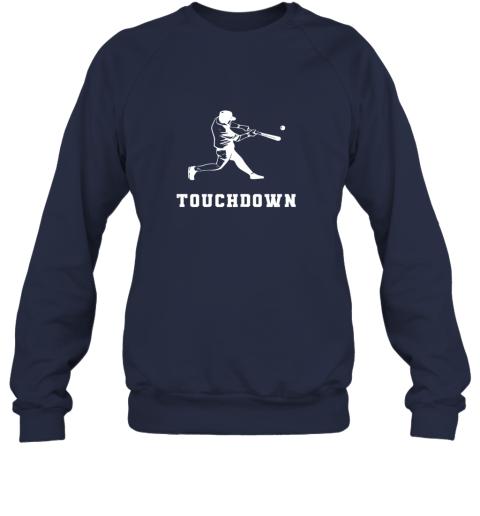 8uzg touchdown baseball shirtfunny sarcastic novelty sweatshirt 35 front navy