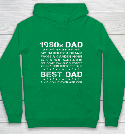 Funny 1980s Dad Girl Dad And Daughter Father's Day Youth Hoodie 4
