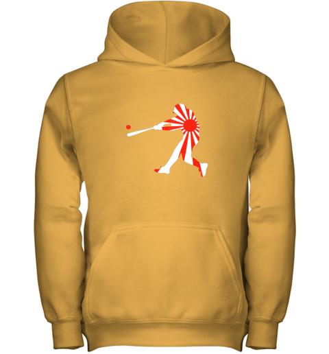 4xnq japan baseball shirt jpn batter classic nippon flag jersey youth hoodie 43 front gold