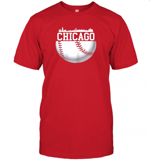 vluh vintage downtown chicago shirt baseball retro illinois state jersey t shirt 60 front red