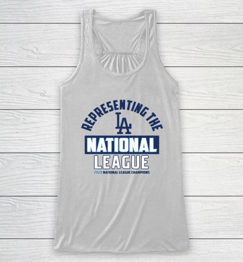 Representing the Los Angeles Dodgers National League 2020 Champions Racerback Tank