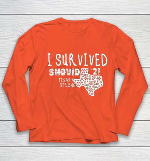 I Survived Snovid 21 Winter 2021 Texas Strong Youth Long Sleeve 3