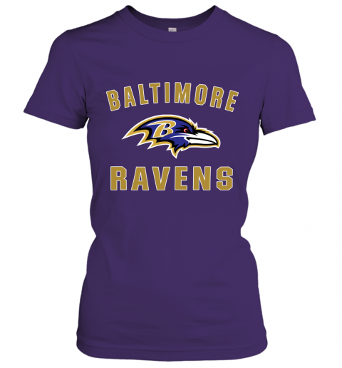 6fg8 mens baltimore ravens nfl pro line by fanatics branded gray victory arch t shirt ladies t shirt 20 front purple