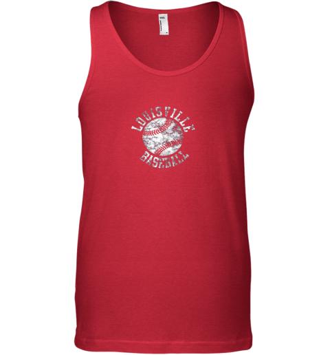 uojf vintage louisville baseball unisex tank 17 front red