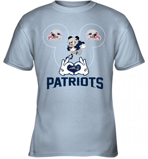 tu6x i love the patriots mickey mouse new england patriots youth t shirt 26 front light blue