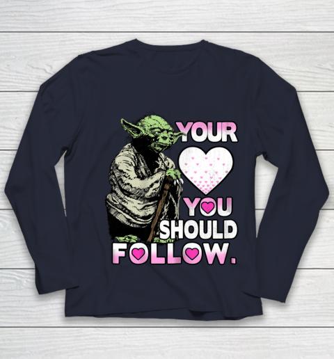 Star Wars Yoda Heart You Should Follow Valentine Youth Long Sleeve 2