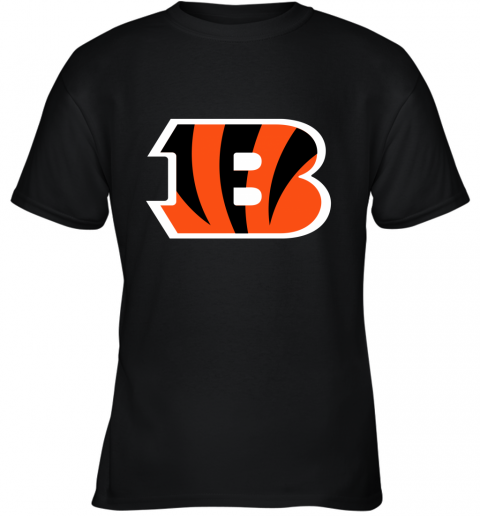 fkj5 cincinnati bengals nfl line gray victory youth t shirt 26 front black
