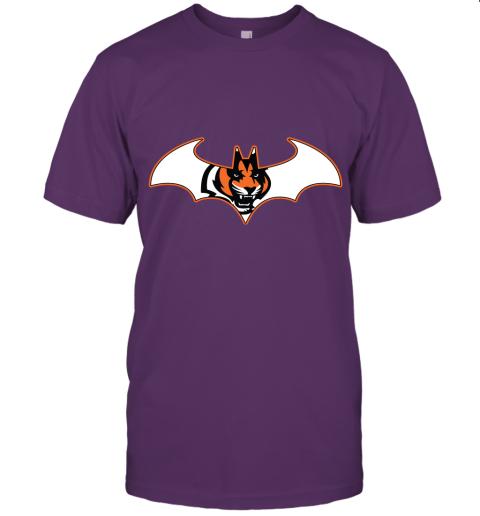 rxz3 we are the cincinnati bengals batman nfl mashup jersey t shirt 60 front team purple