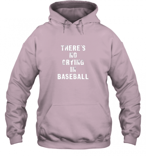 wvwm there39 s no crying in baseball funny hoodie 23 front light pink
