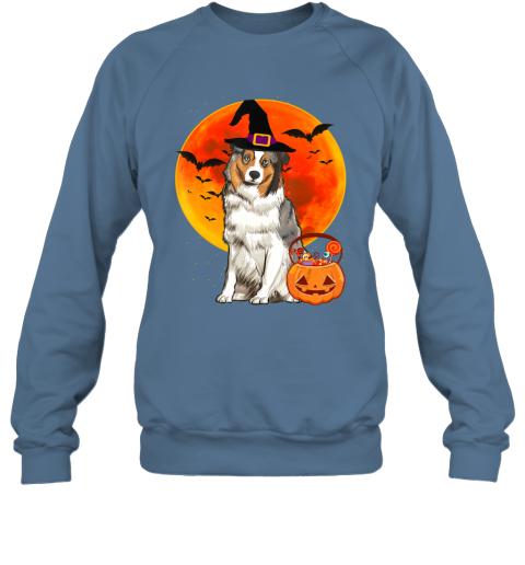 Dog Halloween Australian Shepherd Jack O Lantern Pumpkin Sweatshirt
