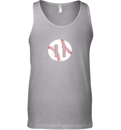 dpsn vintage baseball number 11 shirt cool softball mom gift unisex tank 17 front sport grey