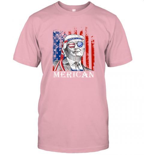 udxj merica donald trump 4th of july american flag shirts jersey t shirt 60 front pink
