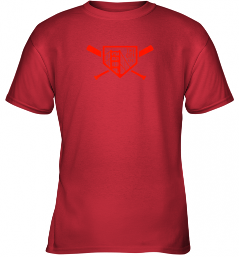 qpt9 cool san francisco baseball the city bridge sfo youth t shirt 26 front red
