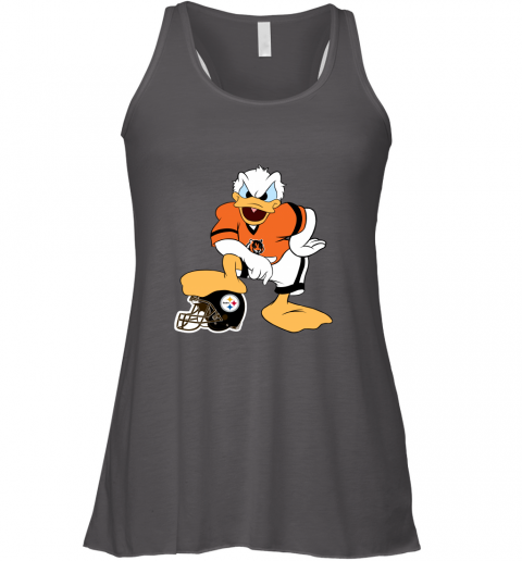 q71q you cannot win against the donald cincinnati bengals nfl flowy tank 32 front dark grey heather