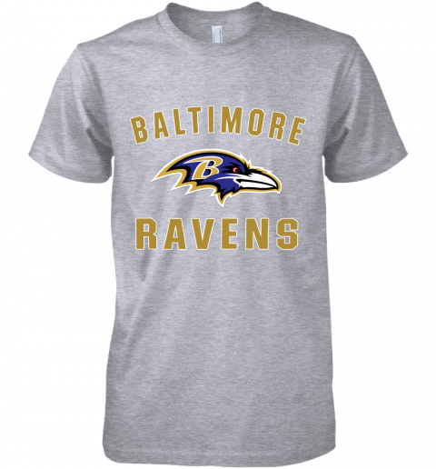 bns3 mens baltimore ravens nfl pro line by fanatics branded gray victory arch t shirt premium guys tee 5 front heather grey