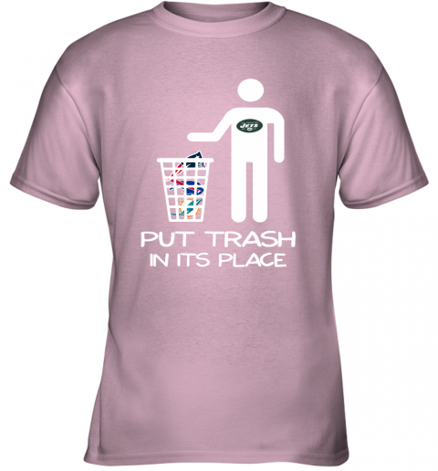 New York Jets Put Trash In Its Place Funny NFL Youth T-Shirt