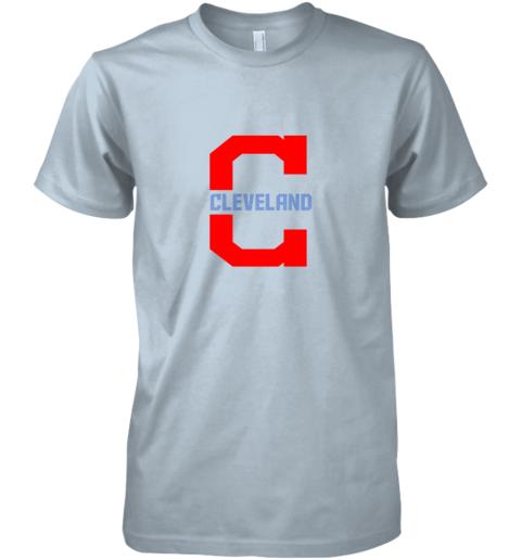 uhwl cleveland hometown indian tribe vintage for baseball premium guys tee 5 front light blue