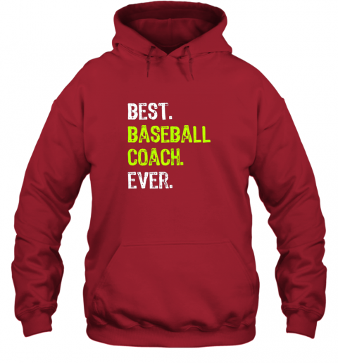 ldrm best baseball coach ever funny gift hoodie 23 front red