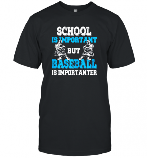 School is Important but Baseball Is Importanter Boys Unisex Jersey Tee
