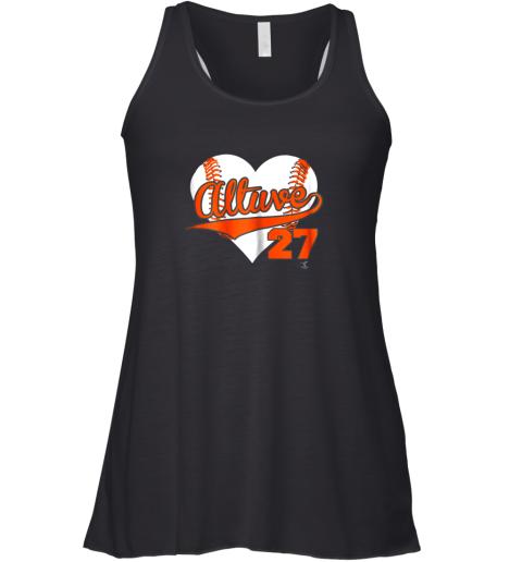 Jose Altuve Baseball Heart Shirt  Apparel Racerback Tank