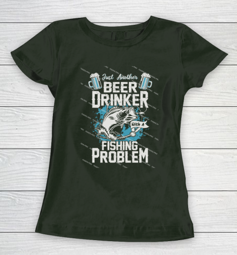 Beer Lover Funny Shirt Fishing ANd Beer Women's T-Shirt 4