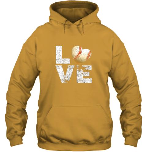 znls i love baseball funny gift for baseball fans lovers hoodie 23 front gold