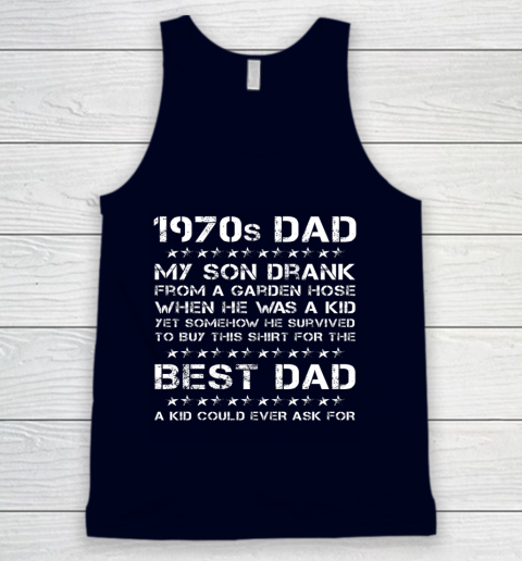 Funny 1970s Dad And Son Father's Day Tank Top 2