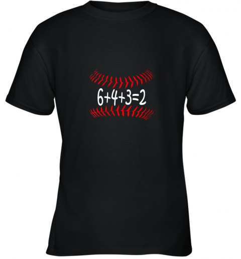 Funny Baseball 6432 Double Play Shirt I Gift 6 4 3=2 Math Youth T-Shirt