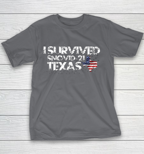 I Survived Snovid 21 Texas Youth T-Shirt 5