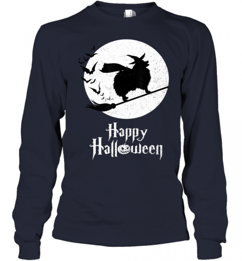 Funny Halloween Costume Witch POMERANIAN Dog Lover Gift Youth Long Sleeve