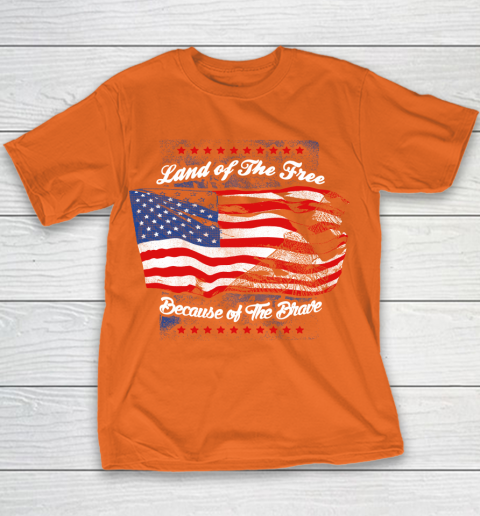 Veteran Land Of The Free Youth T-Shirt 12