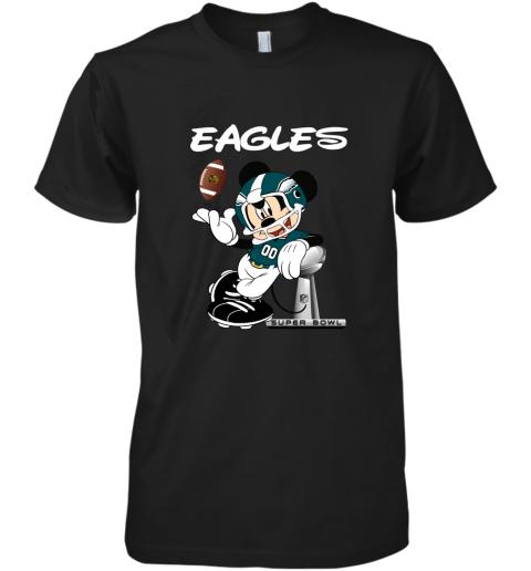 Mickey Eagles Taking The Super Bowl Trophy Football Premium Men's T-Shirt