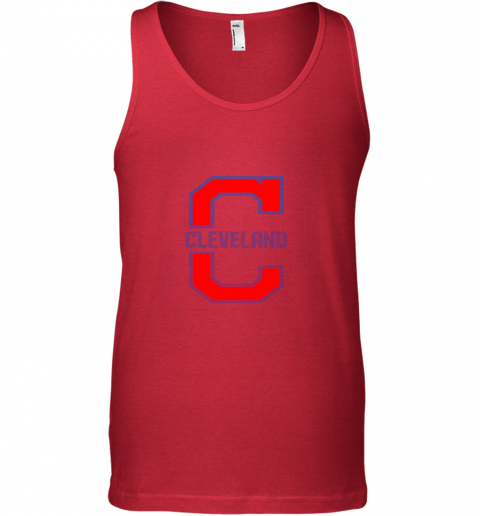 zqns cleveland hometown indian tribe vintage for baseball fans unisex tank 17 front red