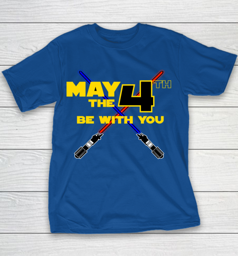 Star Wars Shirt May the Fourth Be With You Lightsaber Youth T-Shirt 6