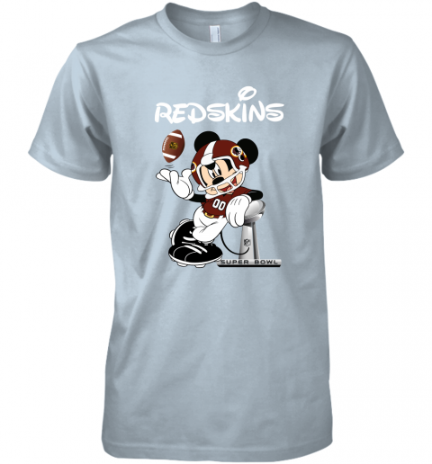 jmwp mickey redskins taking the super bowl trophy football premium guys tee 5 front light blue
