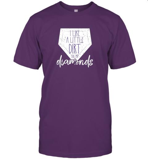 ijnu i like a little dirt on my diamonds baseball jersey t shirt 60 front team purple