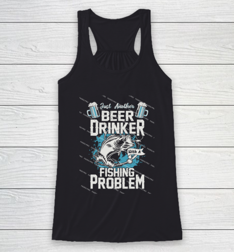 Beer Lover Funny Shirt Fishing ANd Beer Racerback Tank