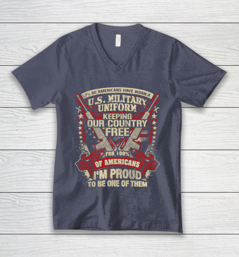 Veteran Shirt Veteran 7% Of American V-Neck T-Shirt 7