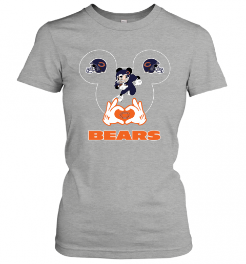 gowl i love the bears mickey mouse chicago bears ladies t shirt 20 front ash