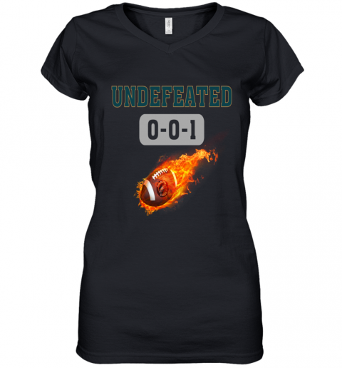 NFL PHILADELPHIA EAGLES LOGO Undefeated Women's V-Neck T-Shirt