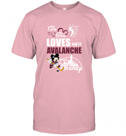 This Girl Love Her Colorado Avalanche And Mickey Disney Unisex Jersey Tee
