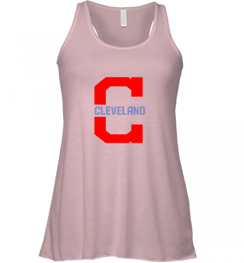mzcq cleveland hometown indian tribe vintage for mlb fans flowy tank 32 front soft pink