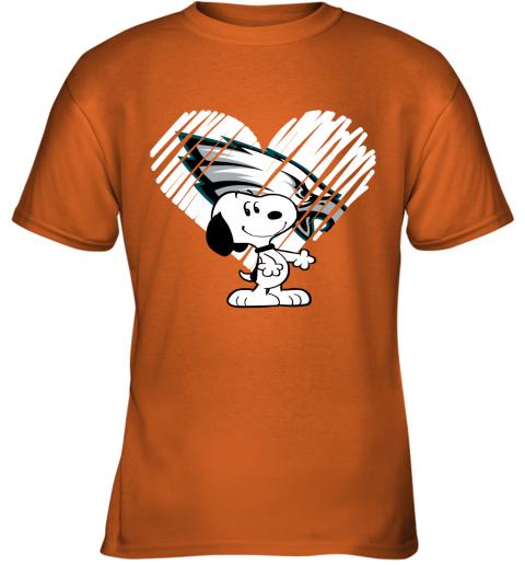 miz3 i love philadelphia eagles snoopy in my heart nfl youth t shirt 26 front safety orange