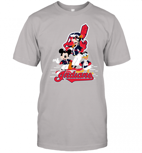 j8x3 cleveland indians mickey donald and goofy baseball jersey t shirt 60 front ash