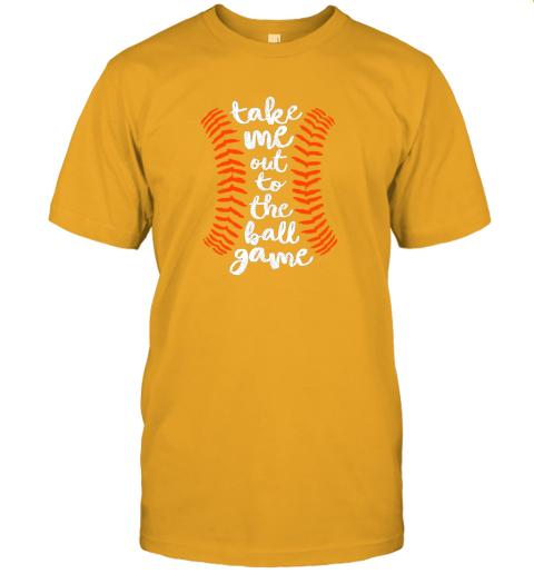 nqoq take me out ball game shirt baseball song orange black blue jersey t shirt 60 front gold