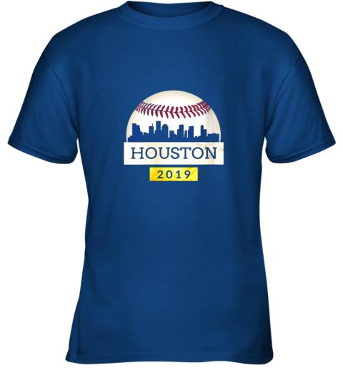 qxlf houston baseball shirt 2019 astro skyline on giant ball youth t shirt 26 front royal