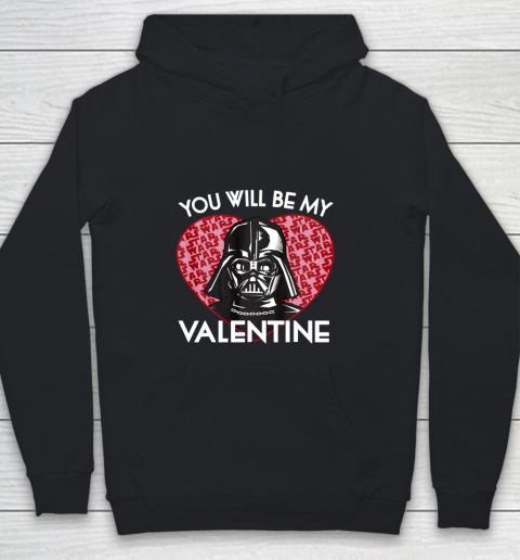 Star Wars You Will Be My Valentine Darth Vader Youth Hoodie