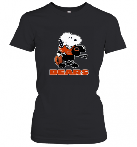 Snoopy A Strong And Proud Chicago Bears Player NFL Women's T-Shirt