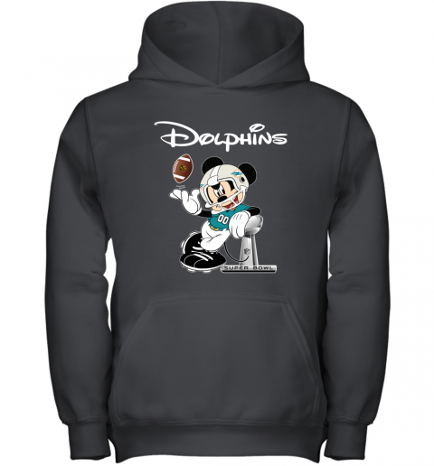 Mickey Dolphins Taking The Super Bowl Trophy Football Youth Hoodie