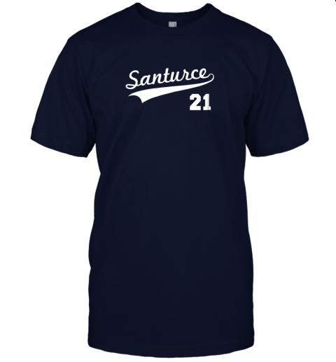 tbft vintage santurce 21 puerto rico baseball jersey t shirt 60 front navy
